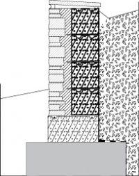 LM203 Liuskekivimuuri, muurattu, ilman saumaa