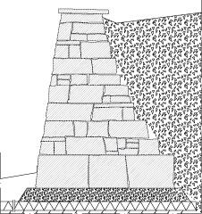 LM205 Liuskekivimuuri, kuivaladottu, korkea