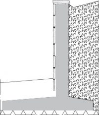 LM206 Liuskekivellä verhoiltu tukimuuri