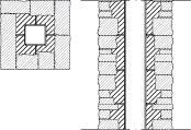LM402 Muurattu liuskekivipilari ilman saumaa